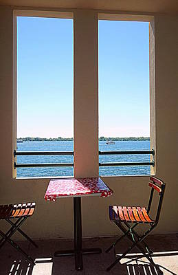 Food And Flowers Still Life - View on the Lake by Valentino Visentini
