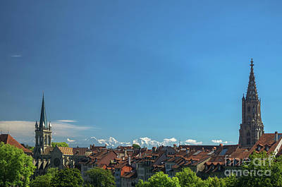 Photograph - view on the old city of Bern Switzerland by Michelle Meenawong