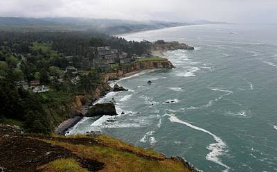 Photograph - View On The Oregon Coast  by Christy Pooschke