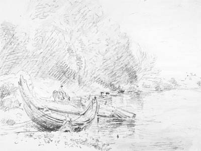 Painting - View On The River Severn At Worcester 1835 by Constable John