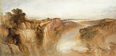 Painting -  View On The River Wye by John Martin