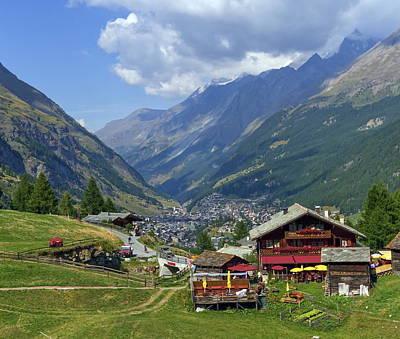 Photograph - View On Zermatt Village by Elenarts - Elena Duvernay photo