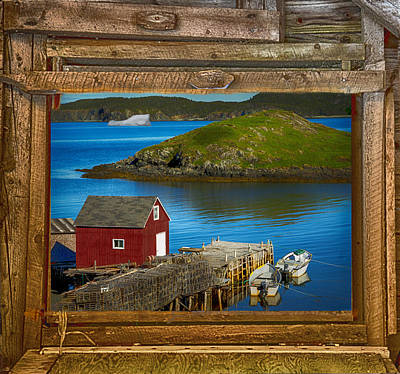 View Out The Sawmill Window Art Print by Janet Ballard