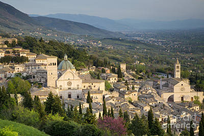 Chiara Photograph - View Over Assisi by Brian Jannsen
