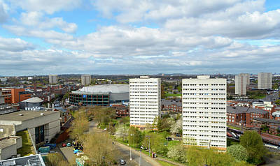Photograph - View Over Birmingham With Tower Blocks And Barclaycard Arena by Jacek Wojnarowski