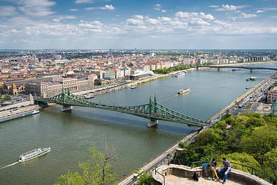 Photograph - View Over Budapest With Danube And Liberty Bridge by Matthias Hauser
