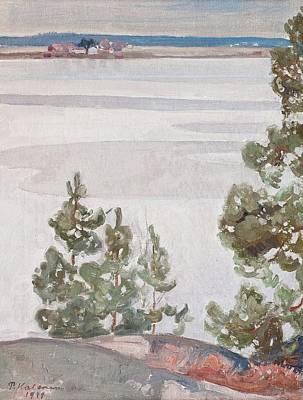 Pekka Wall Art - Painting -  View Over The Lake by Pekka Halonen