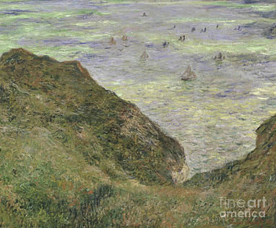 Sailboat Ocean Painting - View Over The Sea, 1882  by Claude Monet