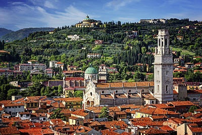 Photograph - View Over Verona Italy  by Carol Japp