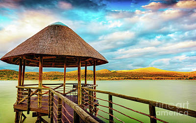 Photograph - View Point On The Lake In South Africa by Anna Om