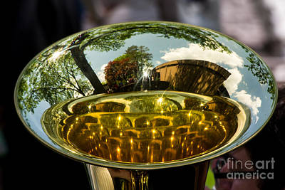 Sousaphone Wall Art - Photograph - View Through A Sousaphone by Kevin Fortier