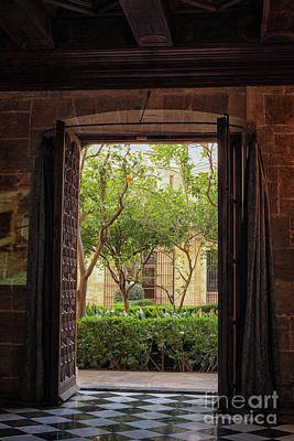 Photograph - View Through Door At Courtyard by Patricia Hofmeester