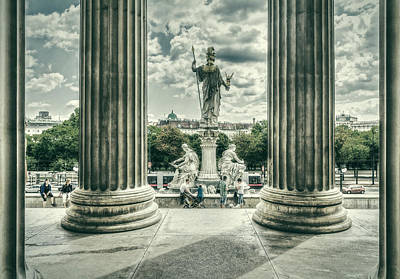 Photograph - View Through The Columns by Roberto Pagani