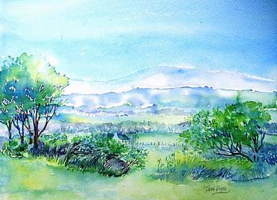 Irish Painting - View Through The Gap,wicklow  by Trudi Doyle
