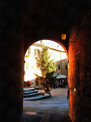 Photograph - View Through To The Christmas Tree Panicale by Dorothy Berry-Lound