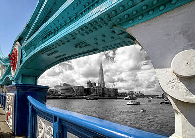 Photograph - View Through Tower Bridge by Shirley Mitchell