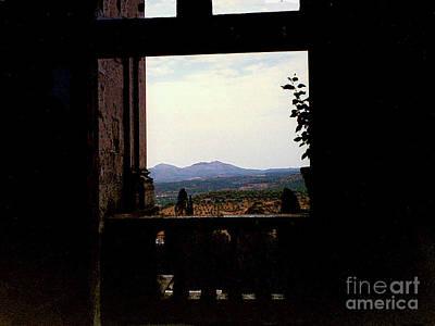 Photograph - View Through Window In Villa De'este In Tivoli, Italy by Merton Allen