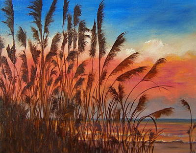View Thru Seaoats Sold Art Print