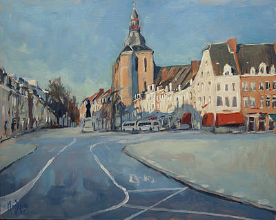 Painting - View To Boschstraat Maastricht by Nop Briex