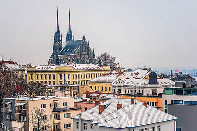 Photograph - View To Cathedral Of St. Peter And Paul In Brno by Jenny Rainbow