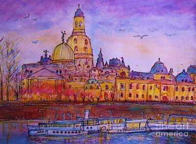 View To Dresden  Art Print by Ingrid  Becker
