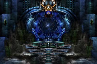 Digital Art - View To Eternity by Xzendor7