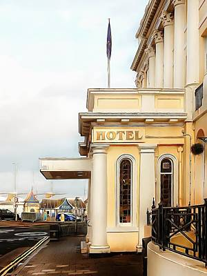 Photograph - View To Royal Albion Hotel Brighton by Dorothy Berry-Lound