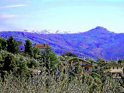 Photograph - View To Snow Capped Mountains From Panicale Umbria by Dorothy Berry-Lound