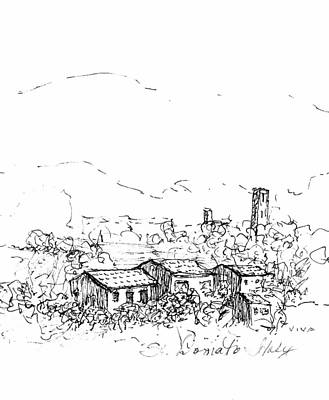 Drawing - View To St.donato by VIVA Anderson