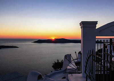 Photograph - View To Sunset From Thira by Sergey Simanovsky
