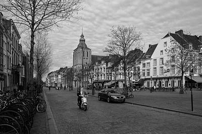 Boat Photograph - View To The Bosch Street In Maastricht by Nop Briex