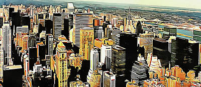 Digital Art - View To The Chrysler Building New York by Dorothy Berry-Lound