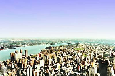 Digital Art - View To The Con Edison Power Plant New York by Dorothy Berry-Lound