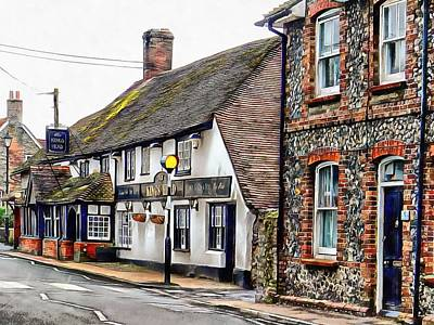 Photograph - View To The Kings Head Upper Beeding by Dorothy Berry-Lound