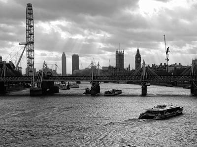 Photograph - View To Westminster London Black And White by Dorothy Berry-Lound