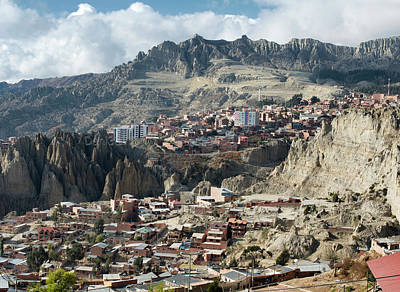 Volcano Photograph - View Toward El Alto In La Paz, Bolivia by Dani Prints and Images