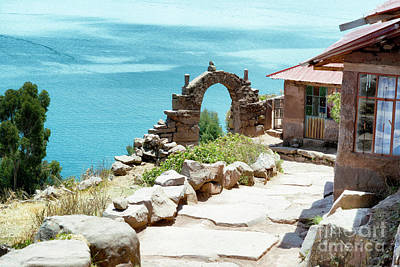 Sunny Photograph - View Toward Lake Titicaca From Taquile Island, Peru by Dani Prints and Images