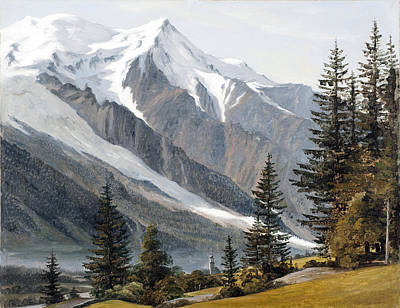 Chamonix Painting - View Towards Chamonix Mont Blanc by Martinus Rorbye