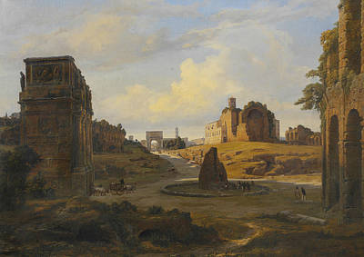 Painting - View Towards Forum Romanum From The Colosseum by Thorald Laessoe