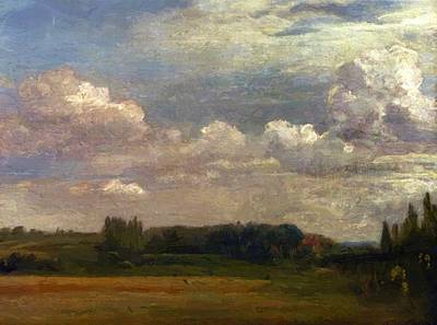 Painting - View Towards The Rectory From East Bergholt House 1813 by Constable John