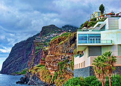 Transportation Royalty-Free and Rights-Managed Images - Viewpoint over Camara de Lobos Madeira Portugal by Brenda Kean