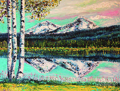 Black Butte Ranch Painting - Views From The Lodge by Eryn Tehan