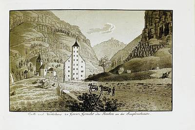 Switzerland Painting - Views Of Switzerland And The Border Of Italy by Heinrich