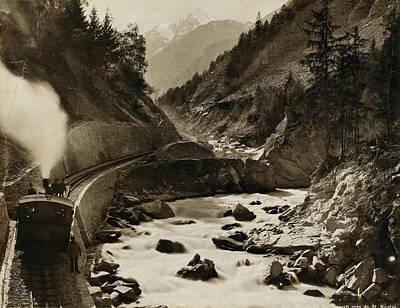 Switzerland Painting - Views Of Switzerland by MotionAge Designs