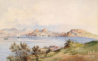 Corfu Painting - views of the city Corfu by Celestial Images