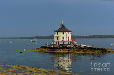Ocatagon Photograph - Views Of The Nubble In Maine by DejaVu Designs