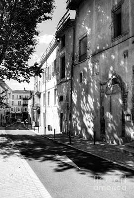 Photograph - Views Of Vienne France 2 Bw by Mel Steinhauer