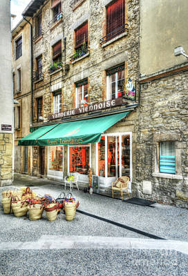 Stone Buildings Photograph - Views Of Vienne France by Mel Steinhauer