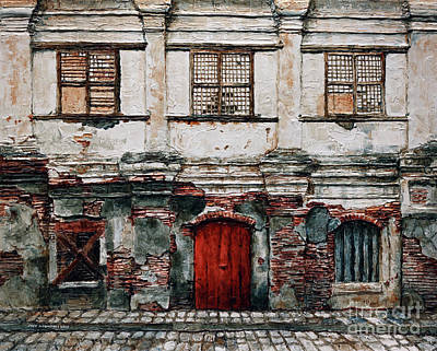 Painting - Vigan Facade 1 by Joey Agbayani
