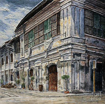 Painting - Vigan Houses 2 by Joey Agbayani